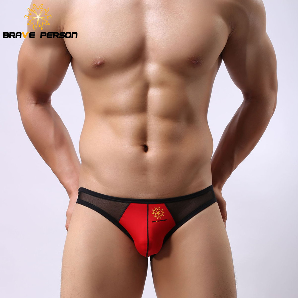 2019 Sommar Hot Sale Män Briefs Modig Person Underkläder Trosor Sexig Mesh Sheer Transparenta Bikini Briefs