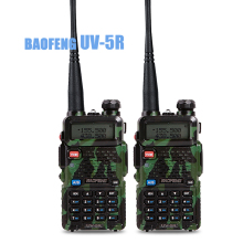 2pcs/lot Baofeng UV 5R Walkie Talkie Portable Radio  UHF&VHF UV-5R 136-174MHz&400-520MHz 5W Two Way Radio housin g