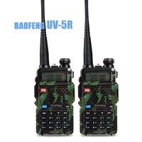 2pcs/lot Baofeng UV 5R Walkie Talkie Portable Radio UHF&VHF UV 5R 136 174MHz&400 520MHz 5W Two Way Radio housin g