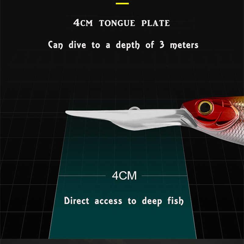 Richiamo di pesca minow 110 m/12g Hard bait Profondità di 2-4m Professionale Sospendere Wobbler Bass Pike esca qualità Sospendere Minnow Swimbait
