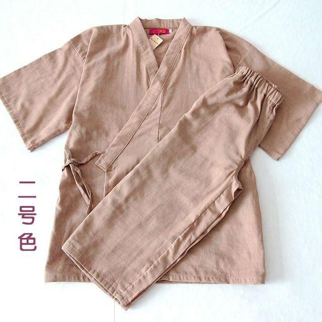 Frete grátis homens do algodão pijama quimono quimono japonês tradicional Sleepwear salão de roupas ternos Yukata