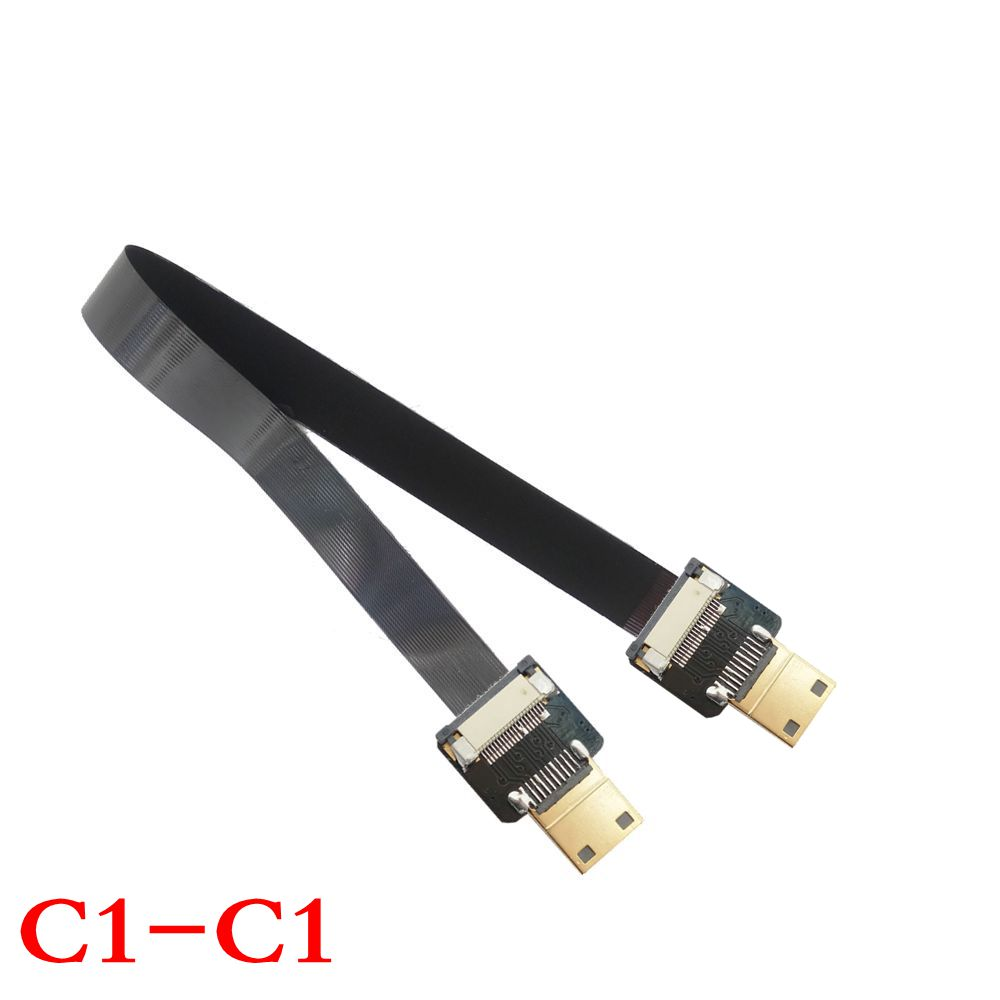 NEW Mini HDMI Male to Mini HDMI Male FPC Flat FPV HDMI Cable for Multicopter Aerial Photography 10cm/20cm/30cm/50cm/80cm/100cm