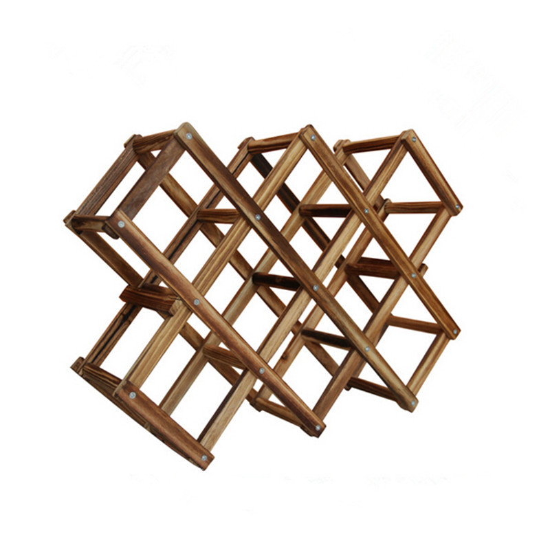 Folding Wine Rack Wooden Wine Rack Wood Fashion Red Wine Display
