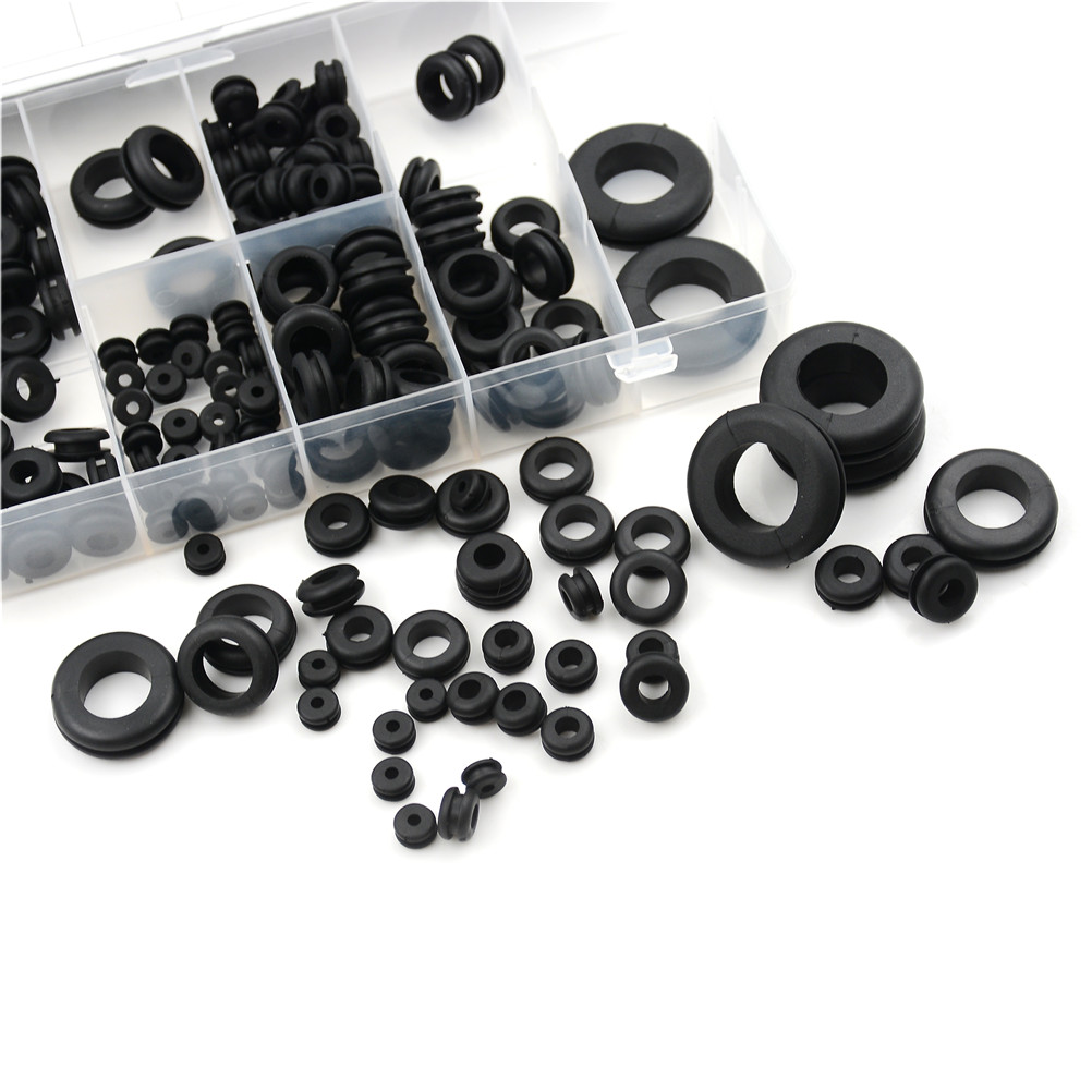 180PCS Round Assortment Rubber Grommet Kit Firewall Hole Wire Electrical Harness