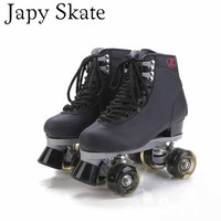 Japy Skate Double Roller Skates With Black Led Lighting Wheels Unisex 4 Wheels Skates Two Line Roller Skate Adult Patine