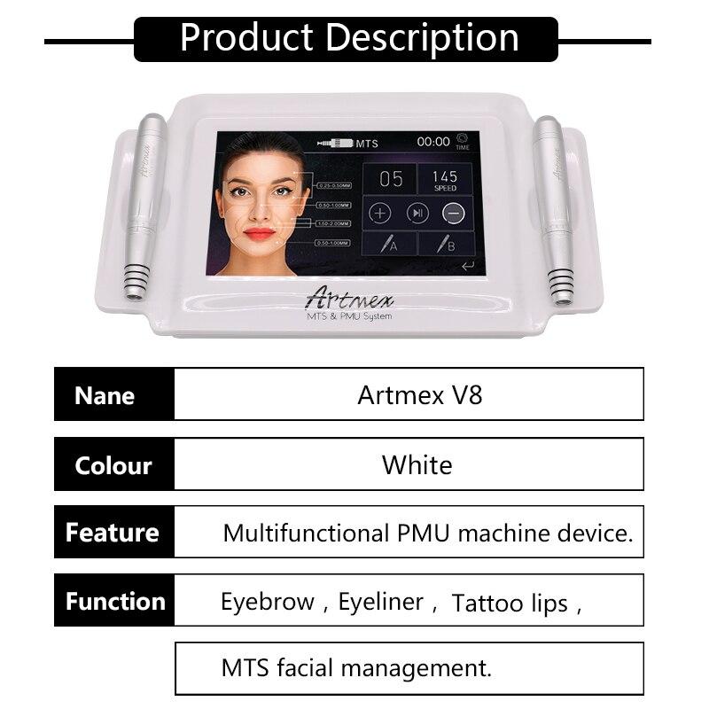 Máquina de maquillaje permanente de alta calidad digital Artmex V8 - Tatuaje y arte corporal - foto 4