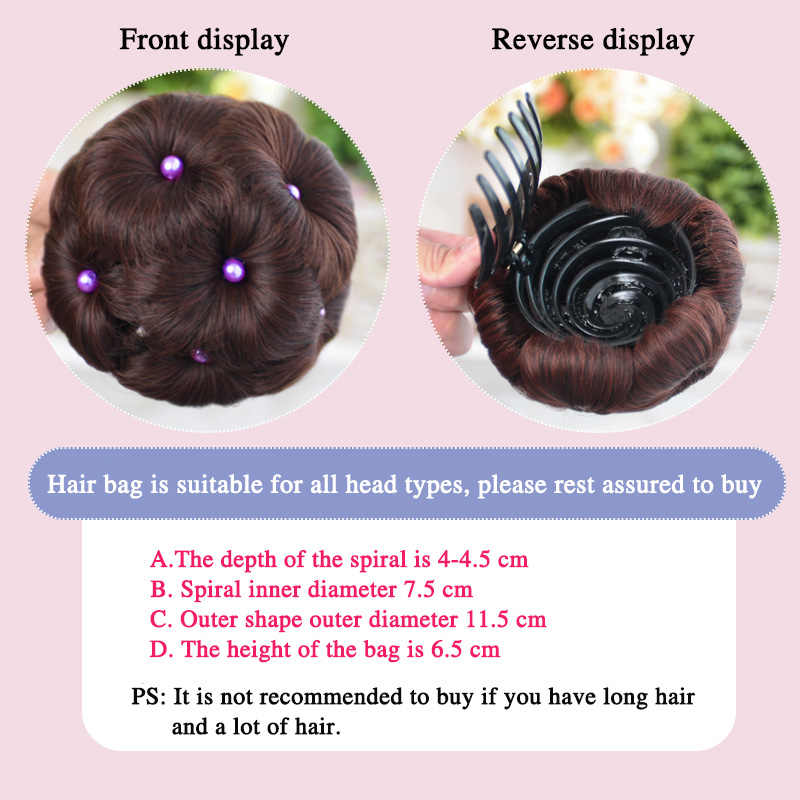 Allaosify Для женщин бублик для волос пучок Donut Клип В парики синтетический Высокая Температура волокно пучок волос наращенные Волосы Булочка Аксессуары