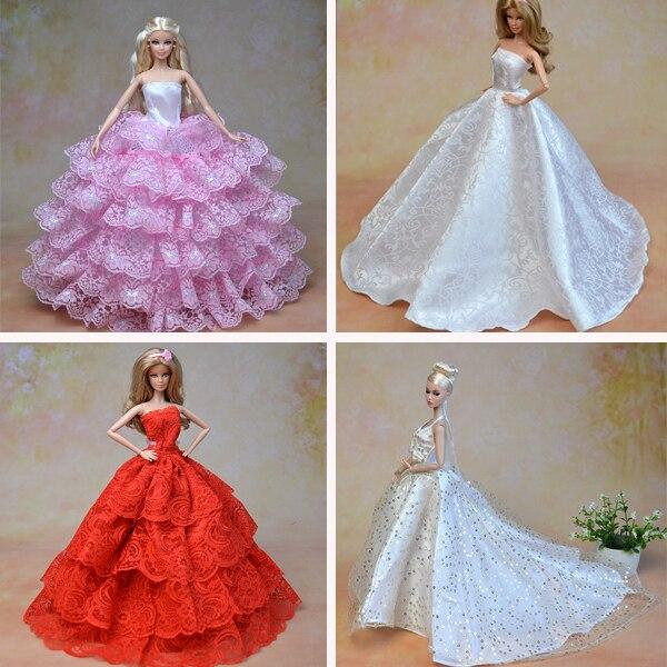 Buy 2014 New Luxury Wedding Princess Dress Fashion Clothes For Barbie Doll 15