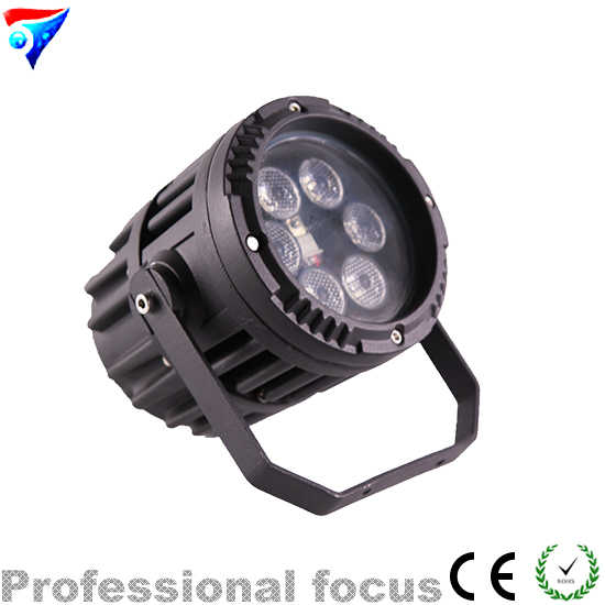 Free Shipping Mini 6*3W RGB 3in1 Led Par Light Waterproof PAR Light Remote Control Outdoor Stage Light DJ