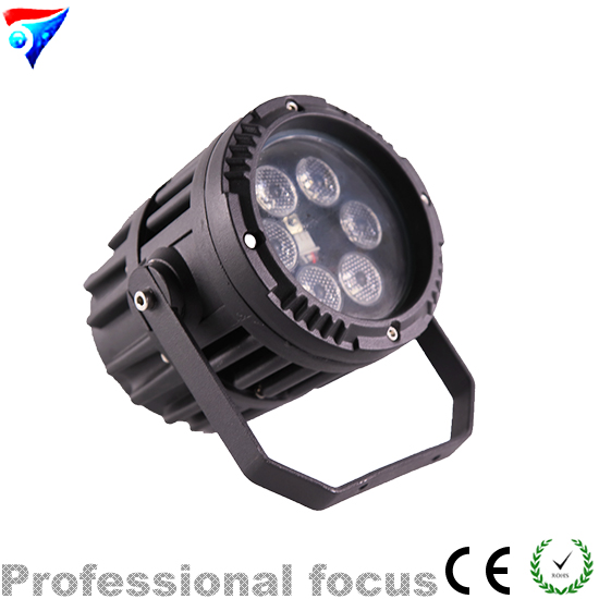 Free Shipping Mini 6*3W RGB 3in1 Led Par Light Waterproof PAR Light Remote Control Outdoor Stage Light DJ remote rgb control waterproof 100% plastic led night light