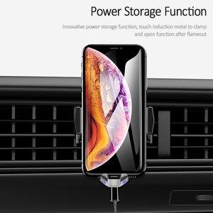 Image 4 - Chargeur de téléphone de voiture sans fil Qi de luxe, support dévent USAMS support pour téléphone de charge rapide 10W pour chargeur iPhone X XS XR Samsung S10