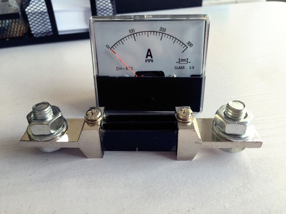 Pointer Analog Amp Panel Meter Current Ammeter DC 0-300A 300A with shunt free shipping