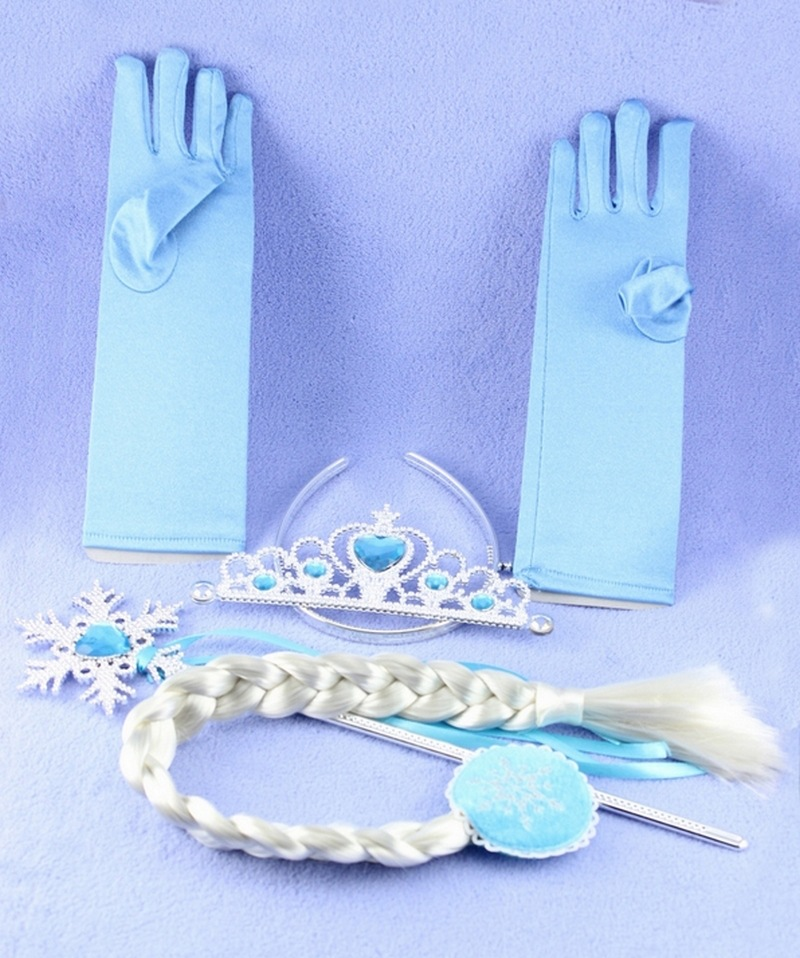 Jewelry-Sets Girls Wand Crown Love Braid Princess XRN64 Hair-Clip Fro.zen