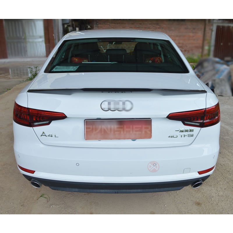 For Audi A4 B9 Spoiler Carbon Fiber Carbon Rear Trunk Spoiler Wing For B9 4 door Saloon Sedan