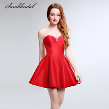 361ab086c Encantador bonito cóctel vestidos con cariño cremallera sin mangas corto y  cristal de baile y vestidos
