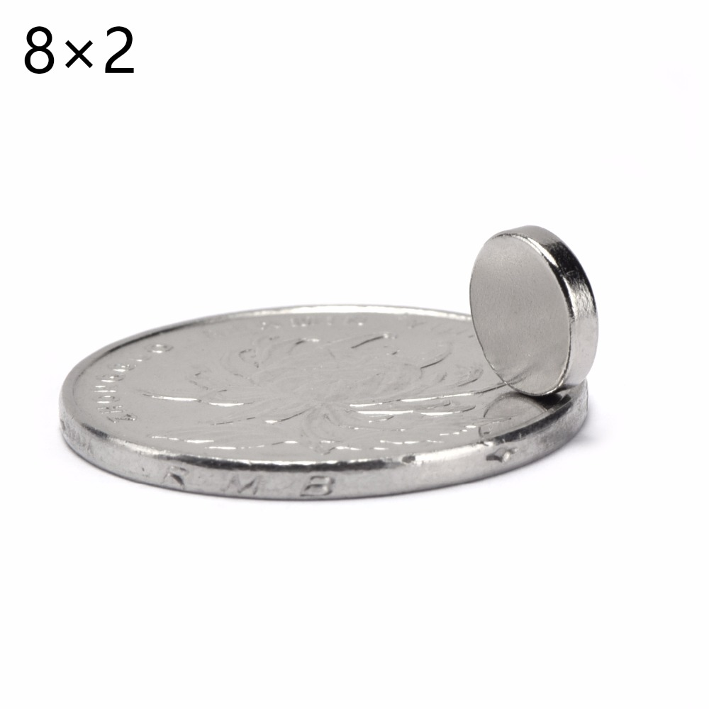3000pcs 8mm x 2mm Super Strong Rare Earth NdFeB Magnet 8 * 2 mm Neodymium N50 Disc Magnets Round Cylinder Sheet Fridge 8*2mm-in Magnetic Materials from Home Improvement    1