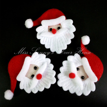 20PCS Merry Christmas Santa Claus Ornament fabric Christmas decoration accessory new year candy gift box supply