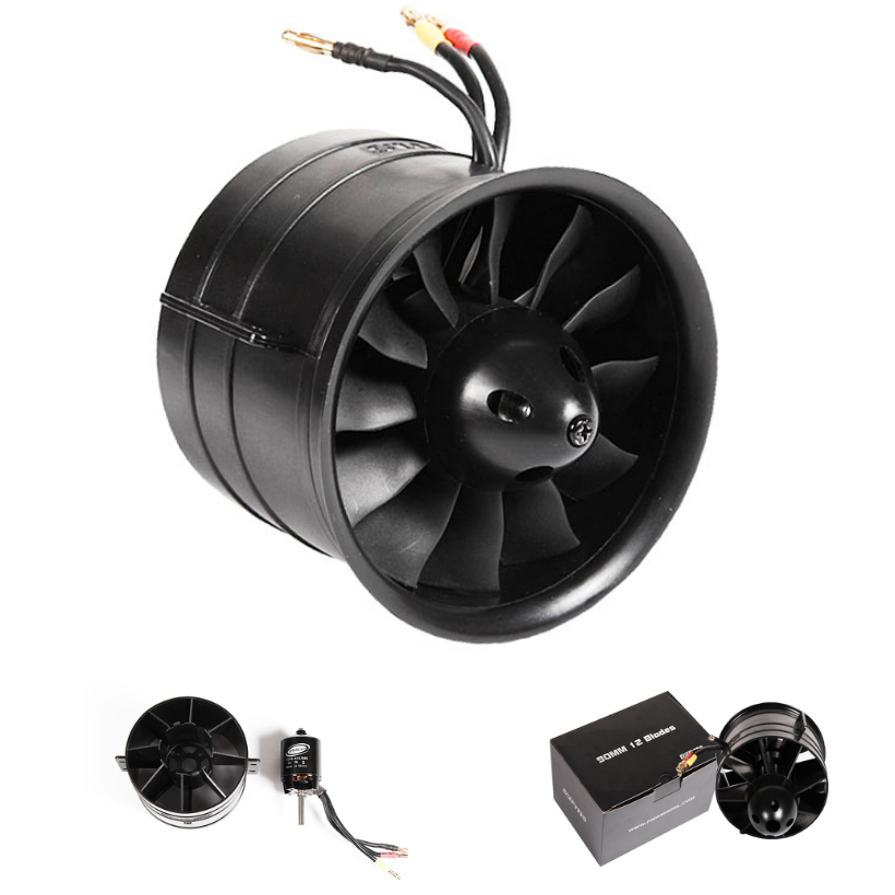 FMS 90mm Ducted Fan EDF Unit 12 Blades With 3546 KV1900 Motor (optional) 6S Version RC Airplane Model Plane Aircraft Spare Parts