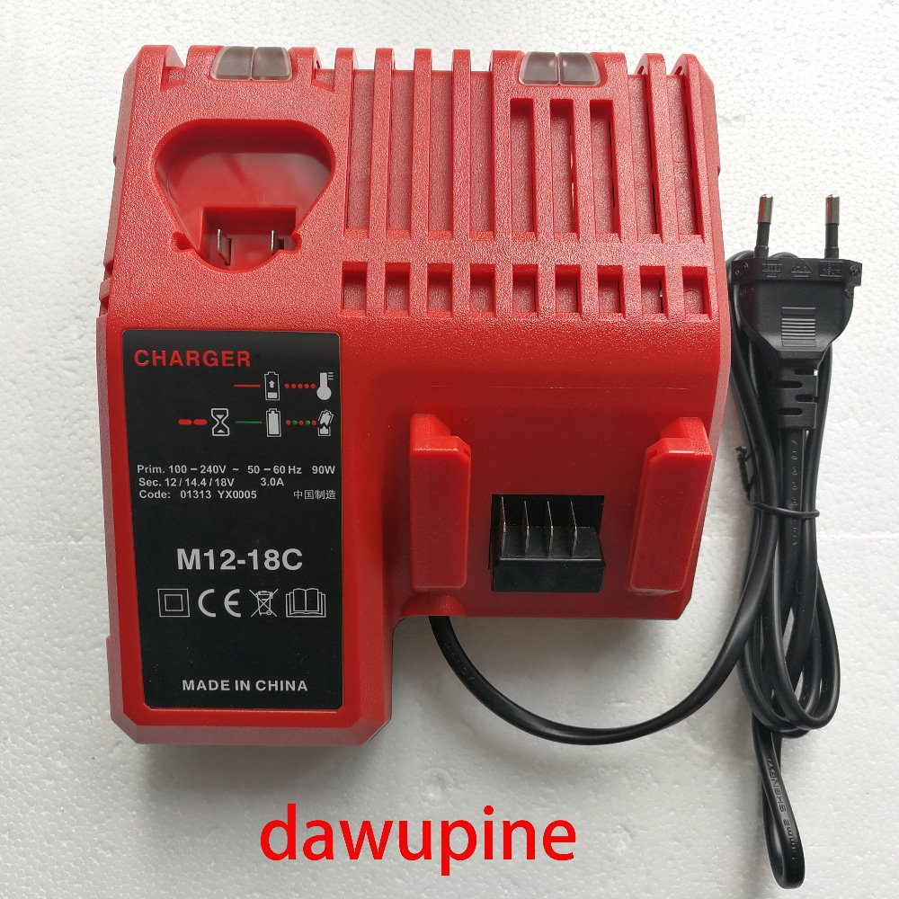 Power Tool Accessory Li-ion Battery Charger for Milwaukee12V 14.4V 18V M12-18C C1418C  M18 M14 M12 Serise Parts replacement li ion battery charger power tools lithium ion battery charger for milwaukee m12 m18 electric screwdriver ac110 230v