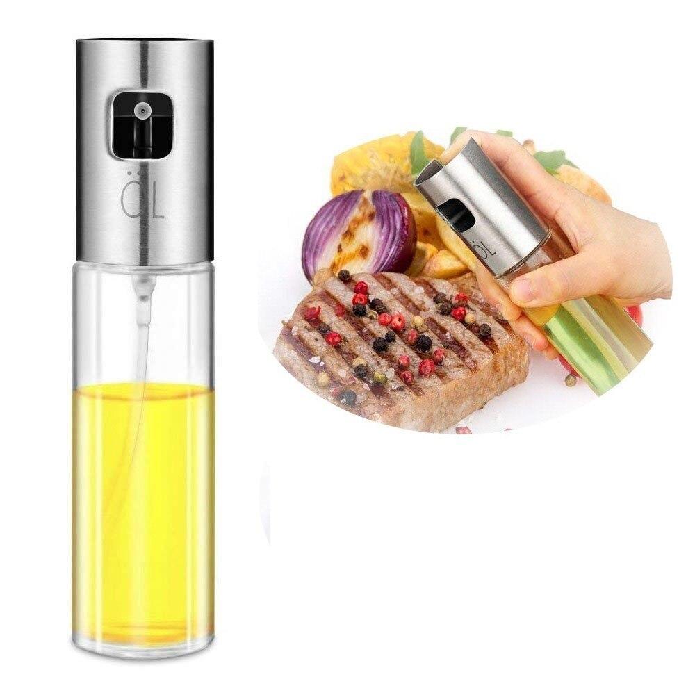 100 ML Edelstahl Glas Olivenöl Pumpe Spray Flasche Öl Sauce Essig Sprayer Topf Kochen Werkzeuge BBQ Kochgeschirr Küche Werkzeug