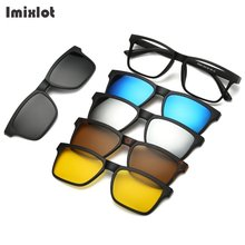 Hot Sale 5 In 1 Men Polarized Magnetic Sunglasses Clip TR90