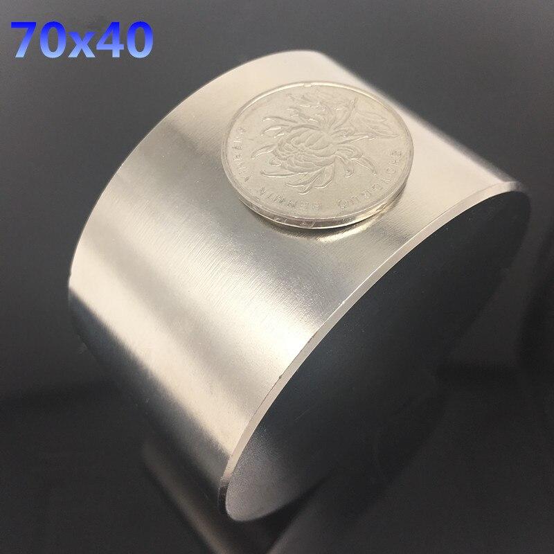 1 pz magnete Al Neodimio N52 D 70x40mm super strong rotonda magnet Rare Earth NdFeb 70*40mm più forte potente magnetico permanente