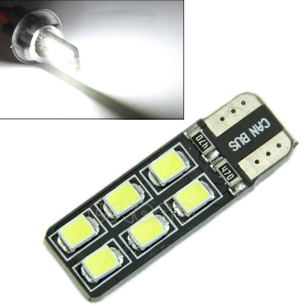 B86 High Quality White Light T10 LED 2835-12 SMD CANBUS ERROR FREE W5W 194 168 Door Map Bulb image
