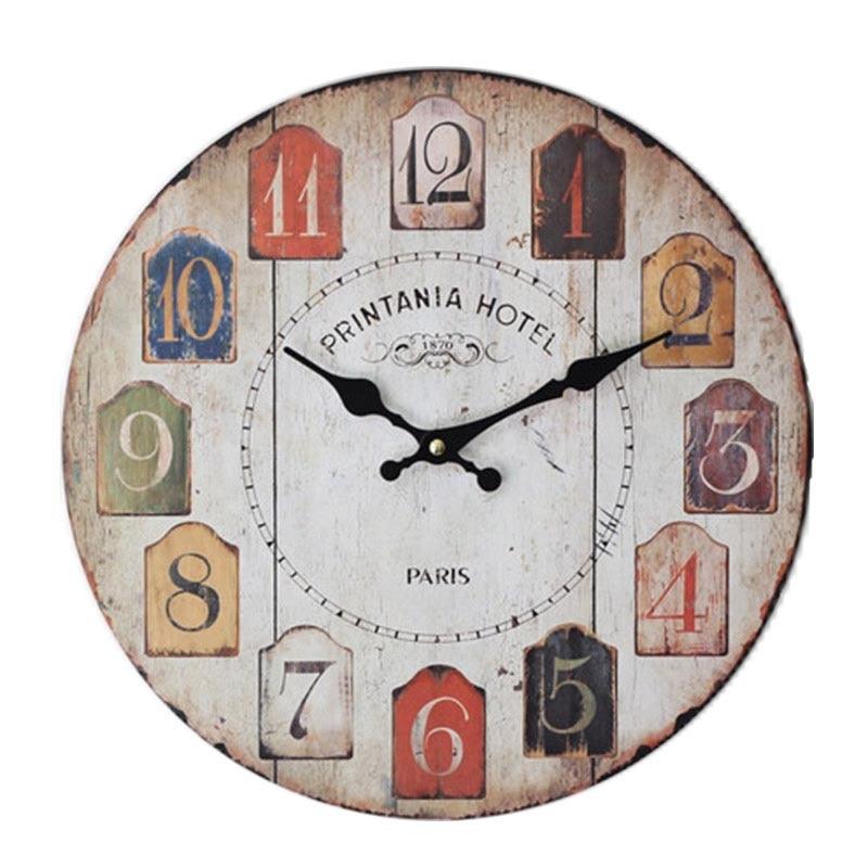 Modern Fashion Home Decorative Wall Clock Old Color Arabic ...