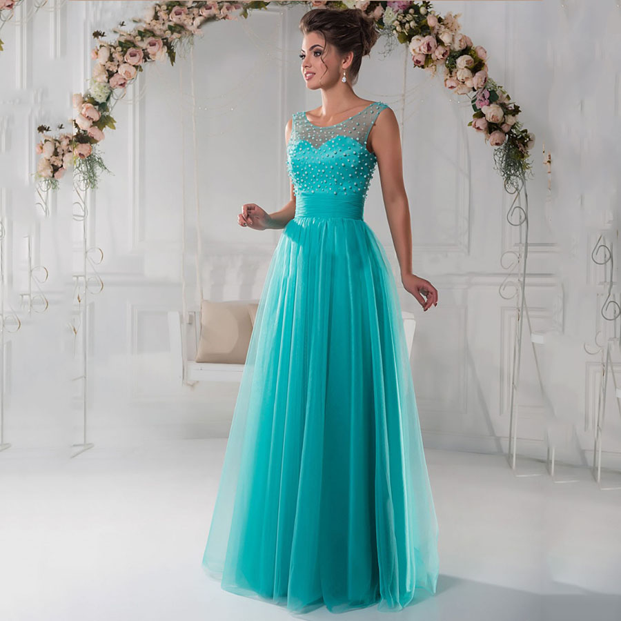 Wedding Teal Prom Dresses online buy wholesale teal prom dresses from china vestido de festa longo a line tulle maternity party dress plus size long pearls prom