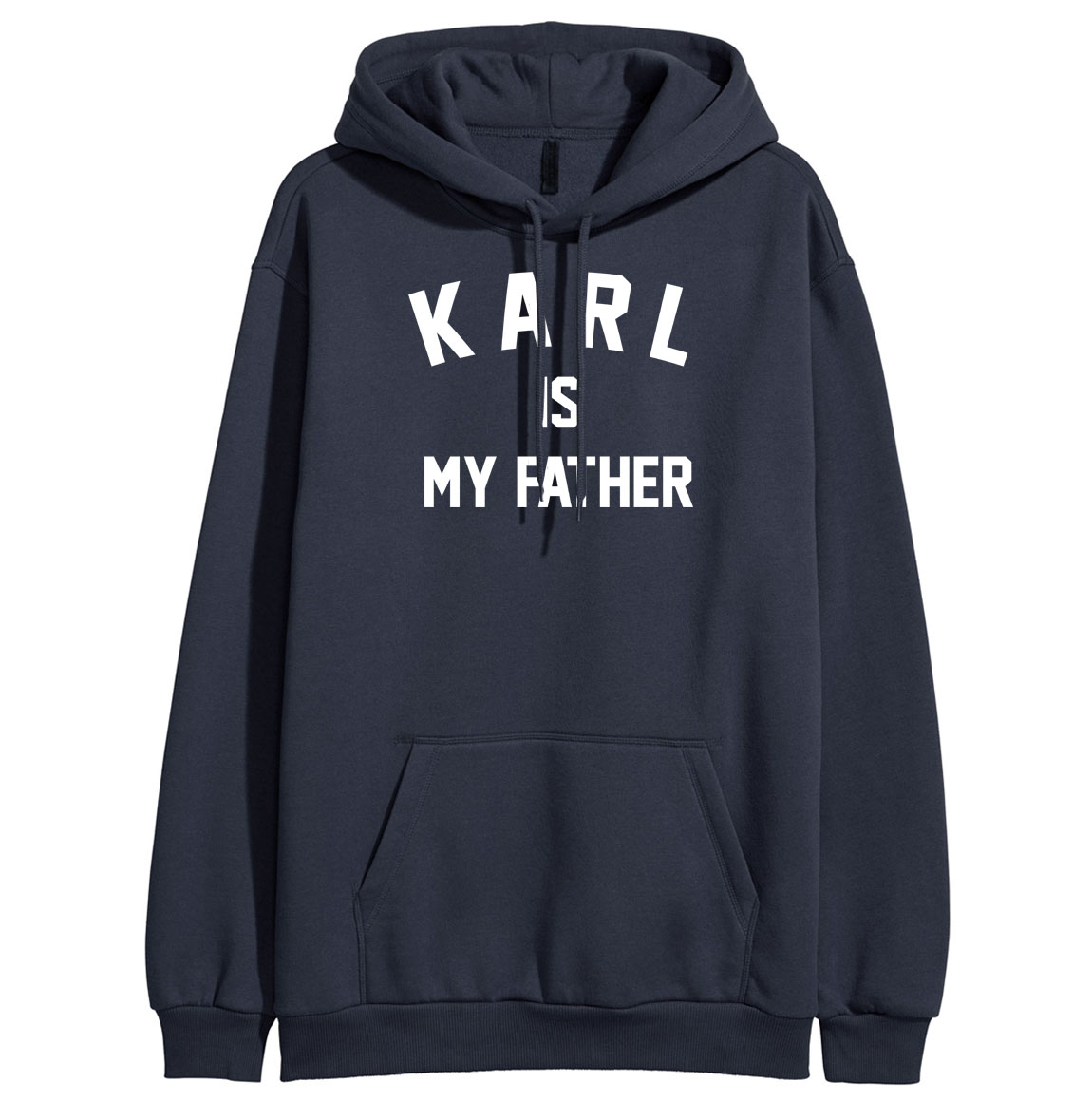 KARL IS MY FATHER Funny Print Hoodies Women 2019 Spring Winter Sweatshirt For Women Fleece Sportswear Harajuku Sweatshirts K-pop