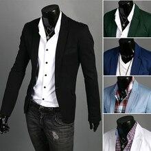 Blazer men 2018 New Arrival Fashion Clothing Wild Single Button terno suit Jacket Men's Casual Slim Fit Suit blazer masculino