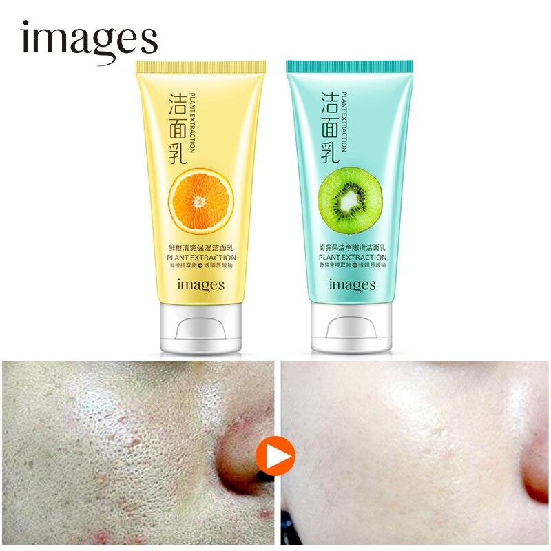 IMAGES Kiwi Fruit Fresh Orange Facial Cleanser Face Wash Deep Clean Nourishing Foam Moisturizing Whitening Anti Spots Marks in Cleansers from Beauty Health