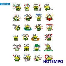 Cartoon Kerokero Keroppi Sanrio Stickers for Girl Children Kids Gift DIY Letter Diary Scrapbooking Stationery Pegatinas Stickers