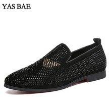 Большие размеры; Повседневная Черная мужская легкая обувь с высоким берцем и шипами; Уличная обувь для хип-хопа; теннисные мужские лоферы