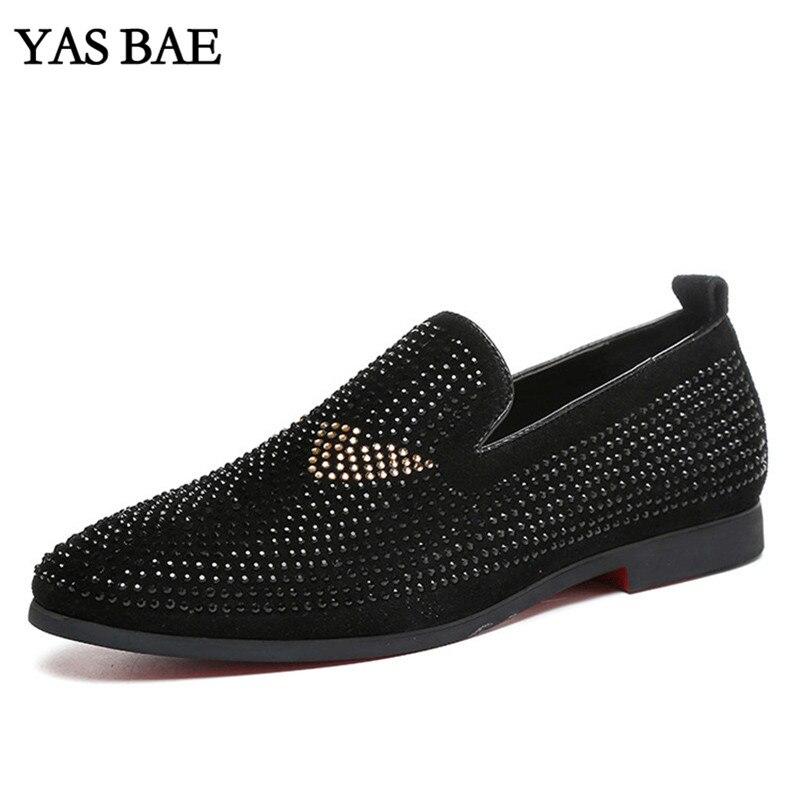 Mâle Léger Mocassins Black Chaussures Taille Street Top Hommes Grande Style Rhineston Noir Pour Hightop High Tenis Chaussur Casual Clouté GMLUVqSzp