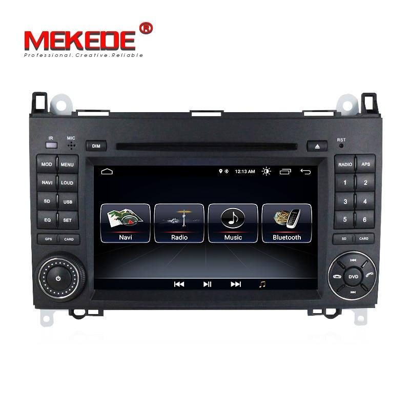Frete grátis! Android 8.1 sistema rádio carro gps dvd para mercedes/benz/b200/a160/a-class w169/b-class w245/vito/sprinter w906