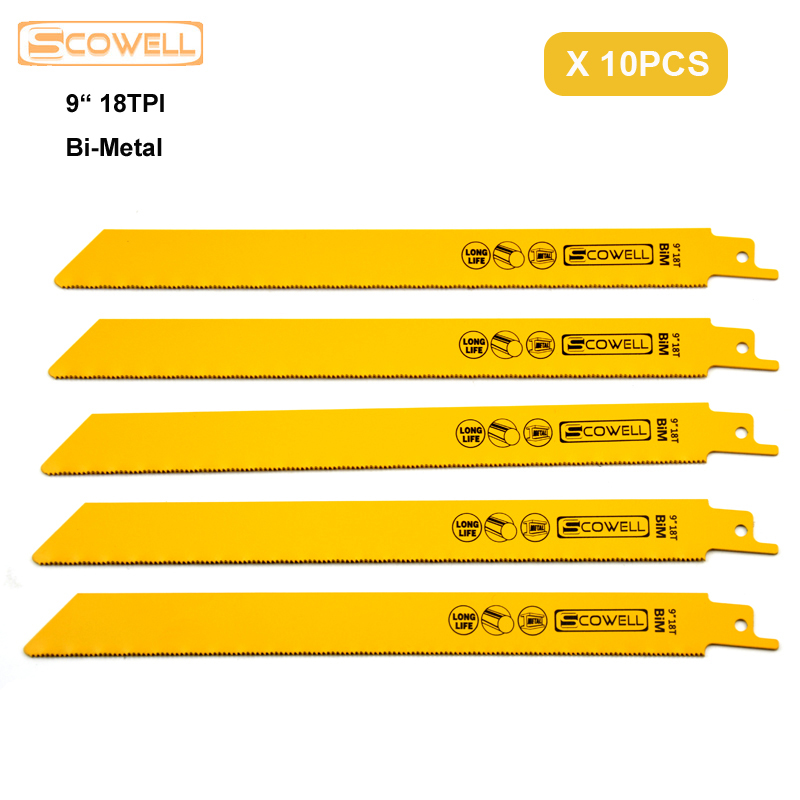 30% OFF 9 Inch 18TPI Bi-metal Sabre Saw Blades Fit For Metal Cutting Free Shipping Reciprocating Saw Blades For Power Tools