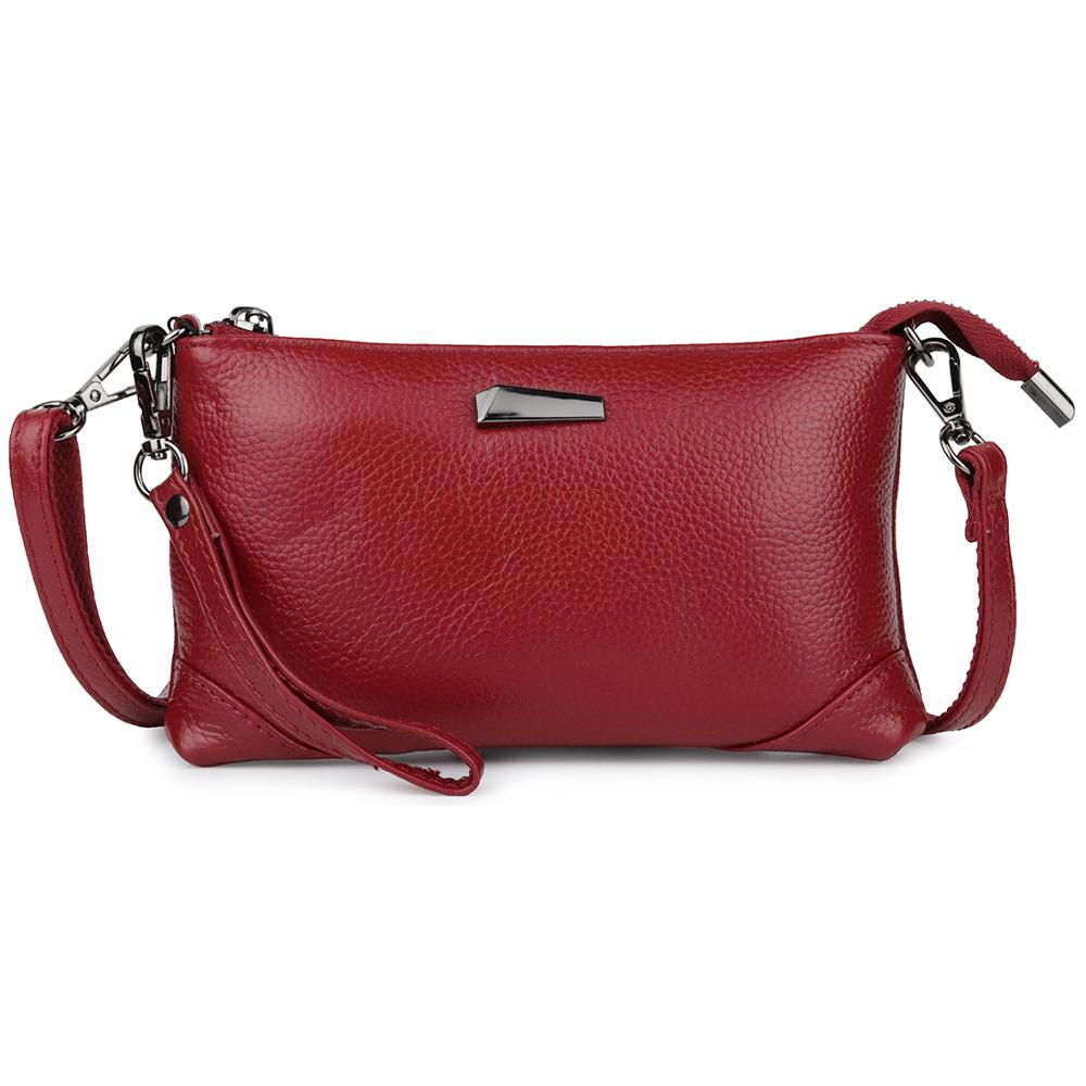 Fashion Small Clutch Bag Women Shoulder Handbag Genuine Cow Leather Women's Messenger Bags Luxury  Ladies Crossbody Purses