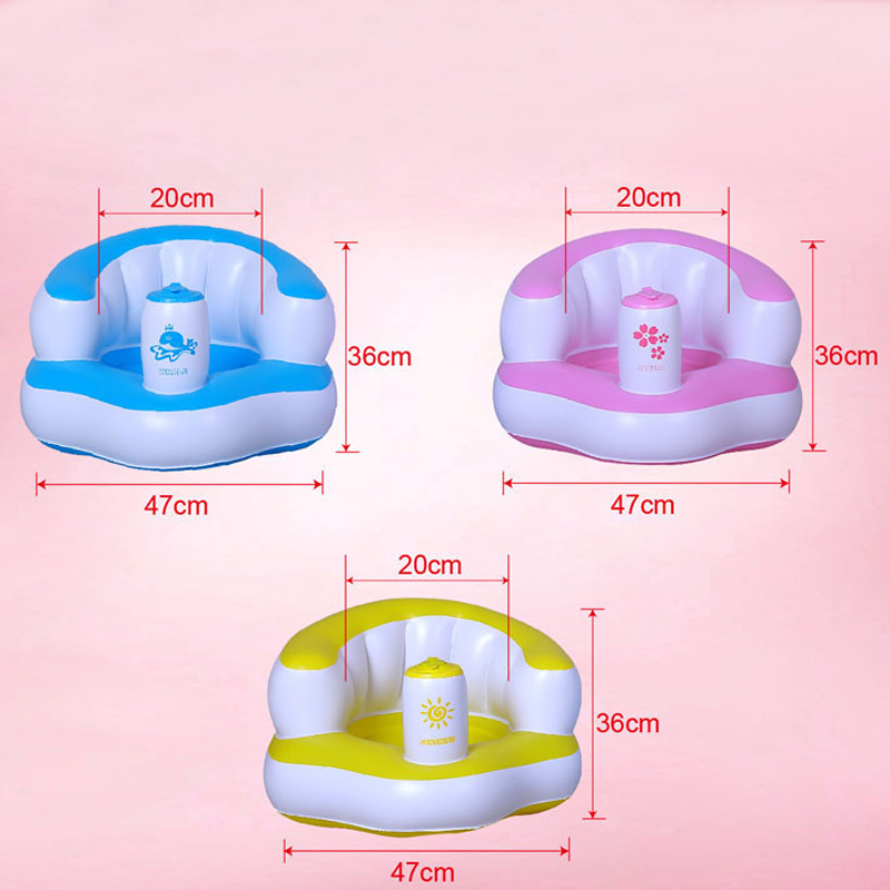 Multifunctional Baby Kid Children Inflatable Sofa Inflatable Seat BB Dinner Chair Portable Bathroom Tool For Babies
