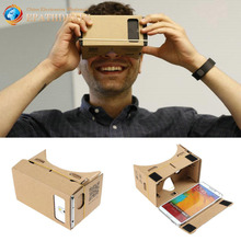 [SALE] Hight Quality Ultra Clear DIY Google Cardboard VR Virtual Reality 5.5 Mobile Phone 3D Viewing Glasses for 3D Movies Games