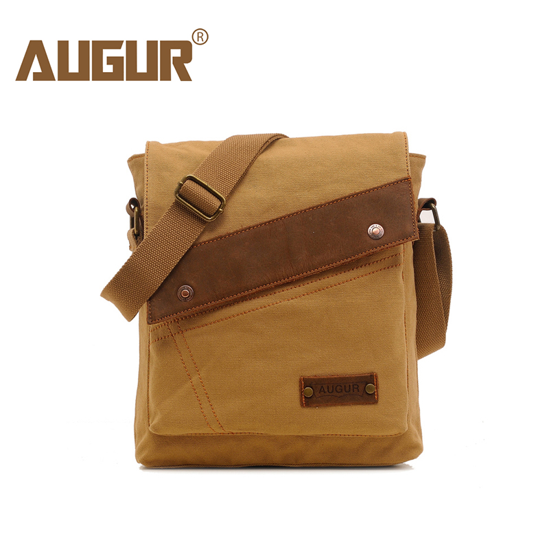 AUGUR Fashion Men Messenger Bag Male Travel Business Crossbody bags Shoulder Bag for Mans High quality Canvas Small Bags