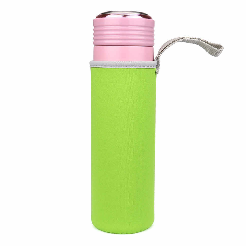 Botol Air Olahraga Cover Lembut Neoprene Isolator Lengan Pelindung Tas Kantong untuk 550 Ml Olahraga Berkemah Mendaki Berjalan Tas Botol # F