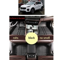 lsrtw2017 fast shipping leather car floor mat for kia sportage 2016 2017 2018 2019