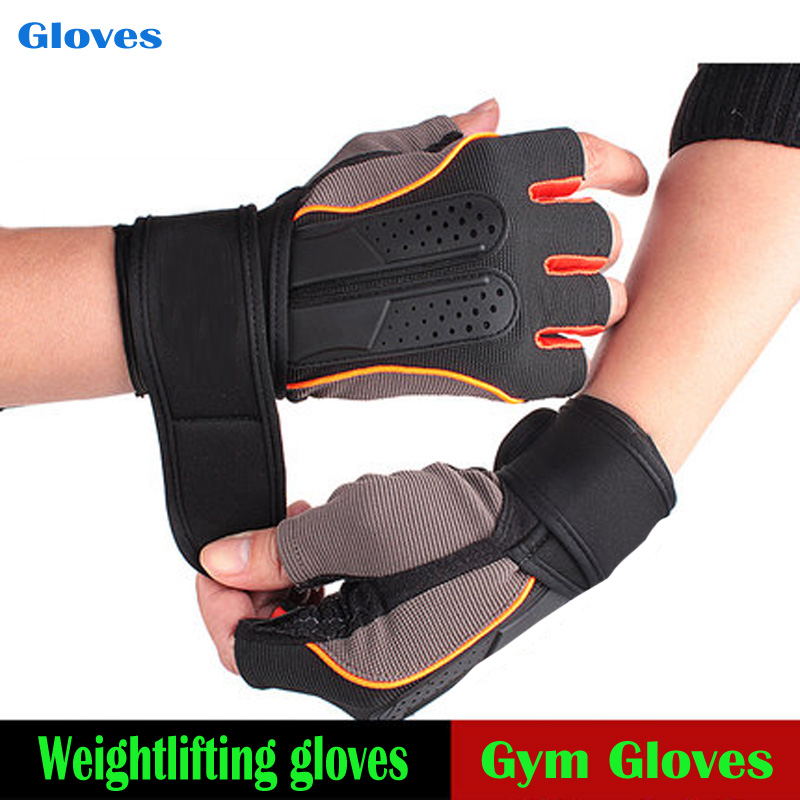 Fitness Workout Long Wrist Strap Exercise Weight Lifting Gym Training Gloves