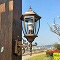 Европейские наружные Настенные светильники наружная терраса лампа большие наружные настенные лампы Водонепроницаемый светодиодный насте...