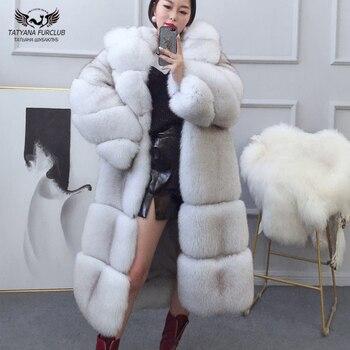 2021 winter new women real fox fur jackets short luxury whole skin genuine fox fur coat yellow color fashion natural fur coats Tatyana Furclub Real Fur Coat Winter For Women Natural Fox Fur Coat With Hood Fur Jacket Long Outwear Coats Luxury Top