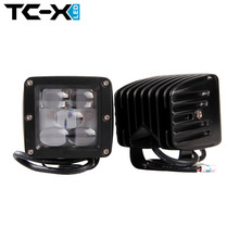TC-X Pack of 2 25W LED Fog Light 5D Engineering Led Driving Lights Ultra Flood Fog Lamps for Offroad Trailer Truck 24V ATV light