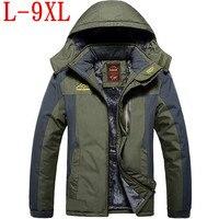 2018 новый большой размер теплая верхняя одежда зимняя куртка мужская непромокаемая ветрозащитная куртка с капюшоном мужская куртка Теплая