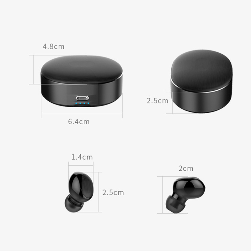 GYKZ Mini Bluetooth 5 0 Earphone Invisible Wireless Sport Music Light Portable Headset High capacity 360 Degrees Rotat Earphone in Bluetooth Earphones Headphones from Consumer Electronics