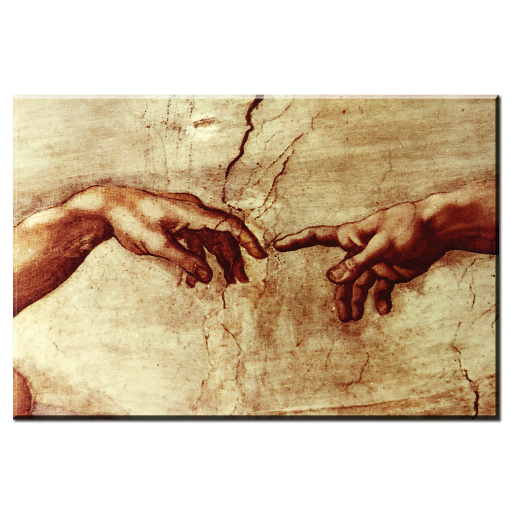 xdr189 Famous Canvas Painting (Creation Of Adam) By Michelangelo ...